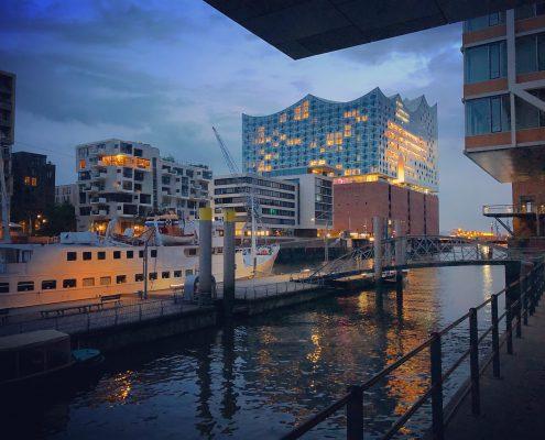 Foto Hamburg Hafencity und Elbphilharmonie
