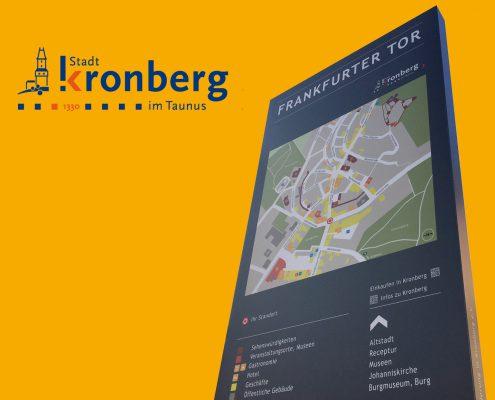 Corporate Design Relaunch sowie Entwicklung eine Leitsystem für die Stadt Kronberg im Taunus durch Grafik-Designer Ronald Wissler