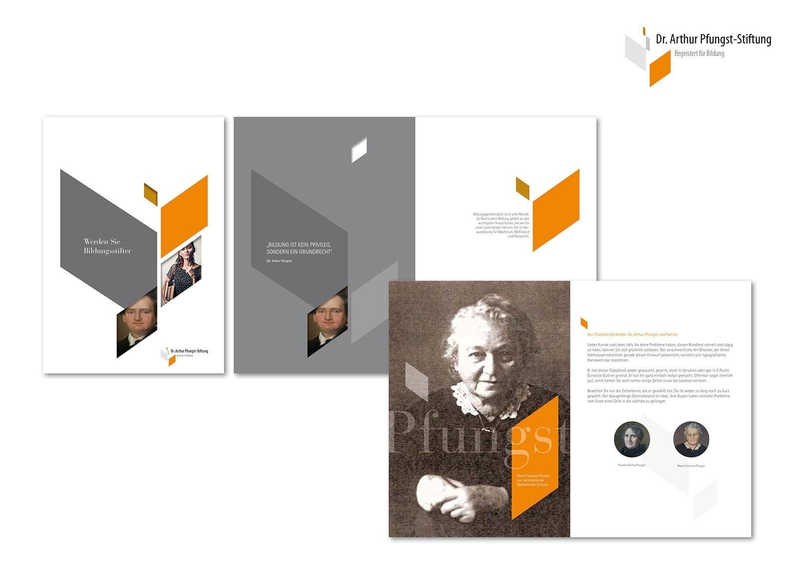 Corporate Design und Homepage Entwicklung für Dr. Arthur Pfungst-Stiftung durch Grafik-Designer Ronald Wissler
