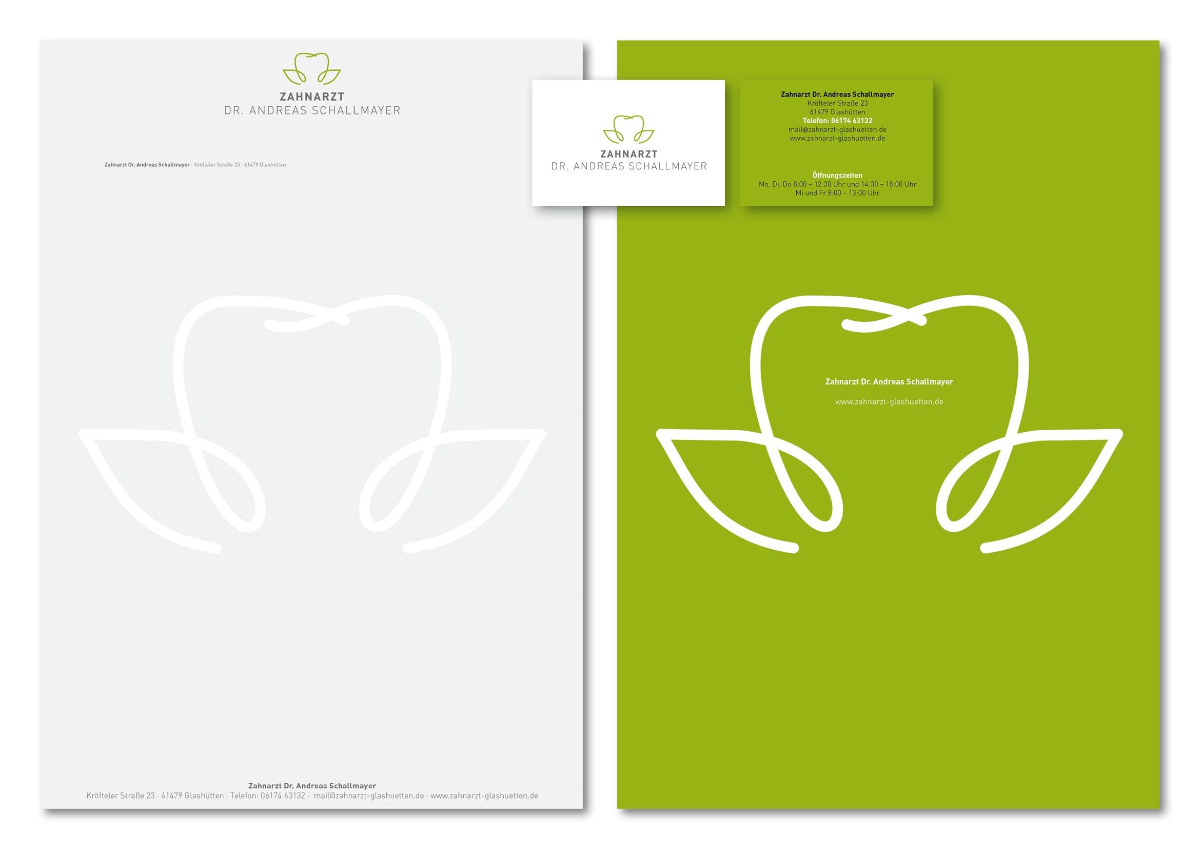 Corporate Design Entwicklung für Zahnarzt