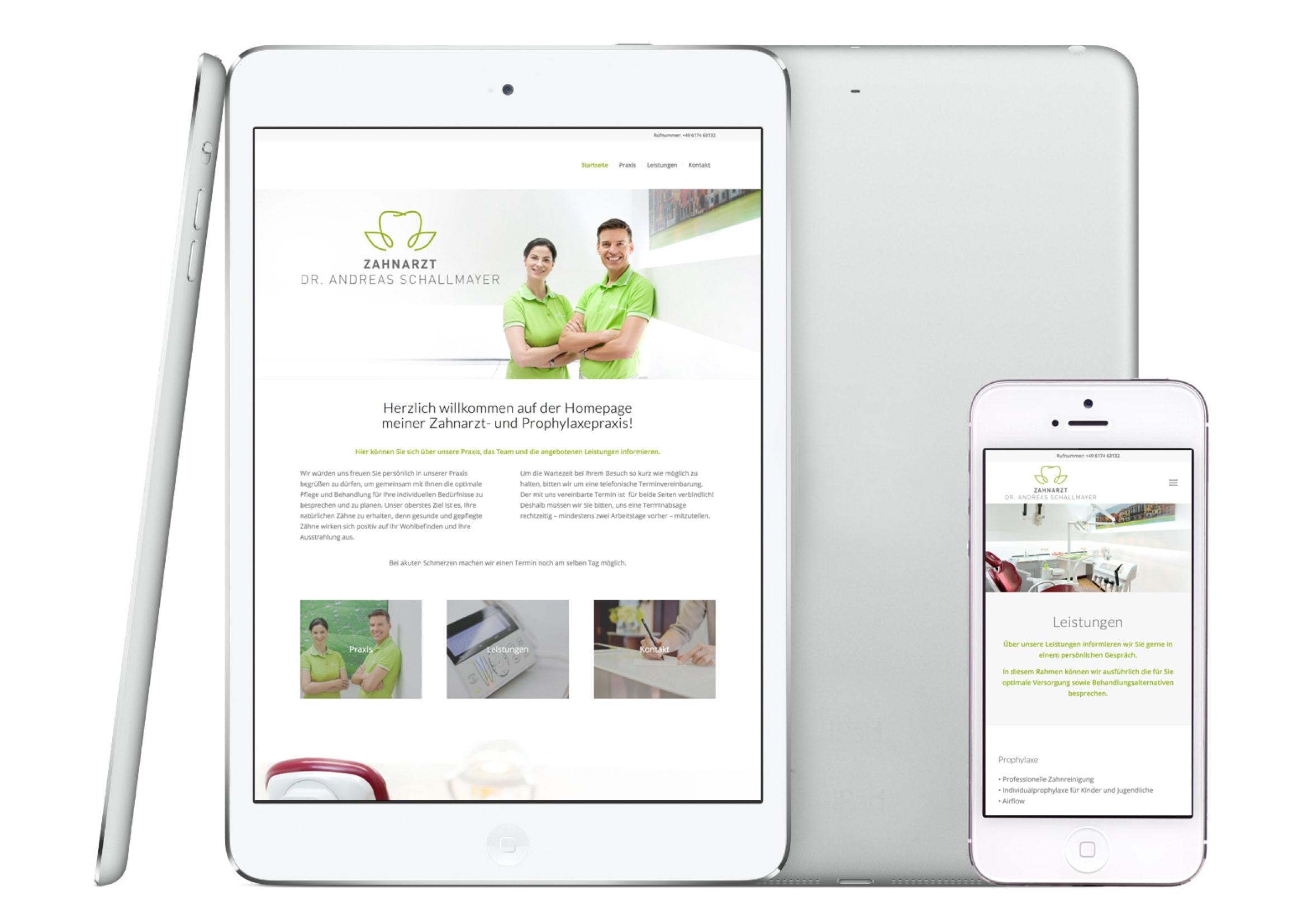 Webdesign Entwicklung für Zahnarztpraxis