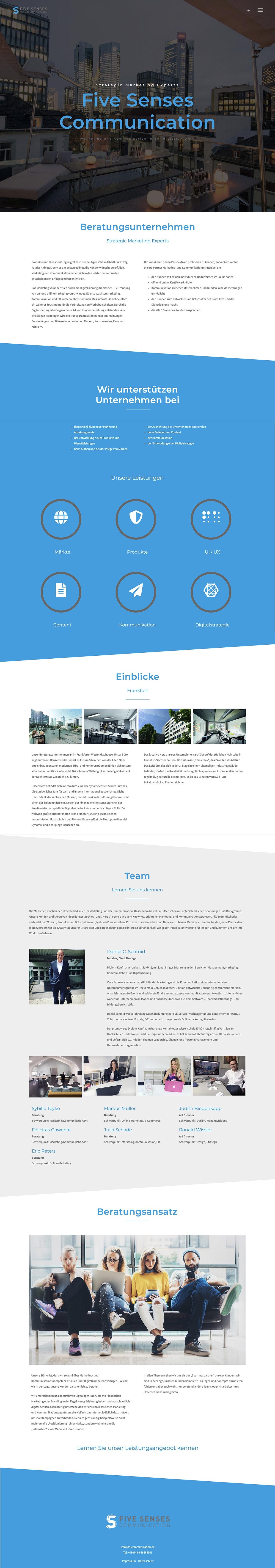 Homepage Entwicklung für Beratungsunternehmen durch Webdesigner Ronald Wissler