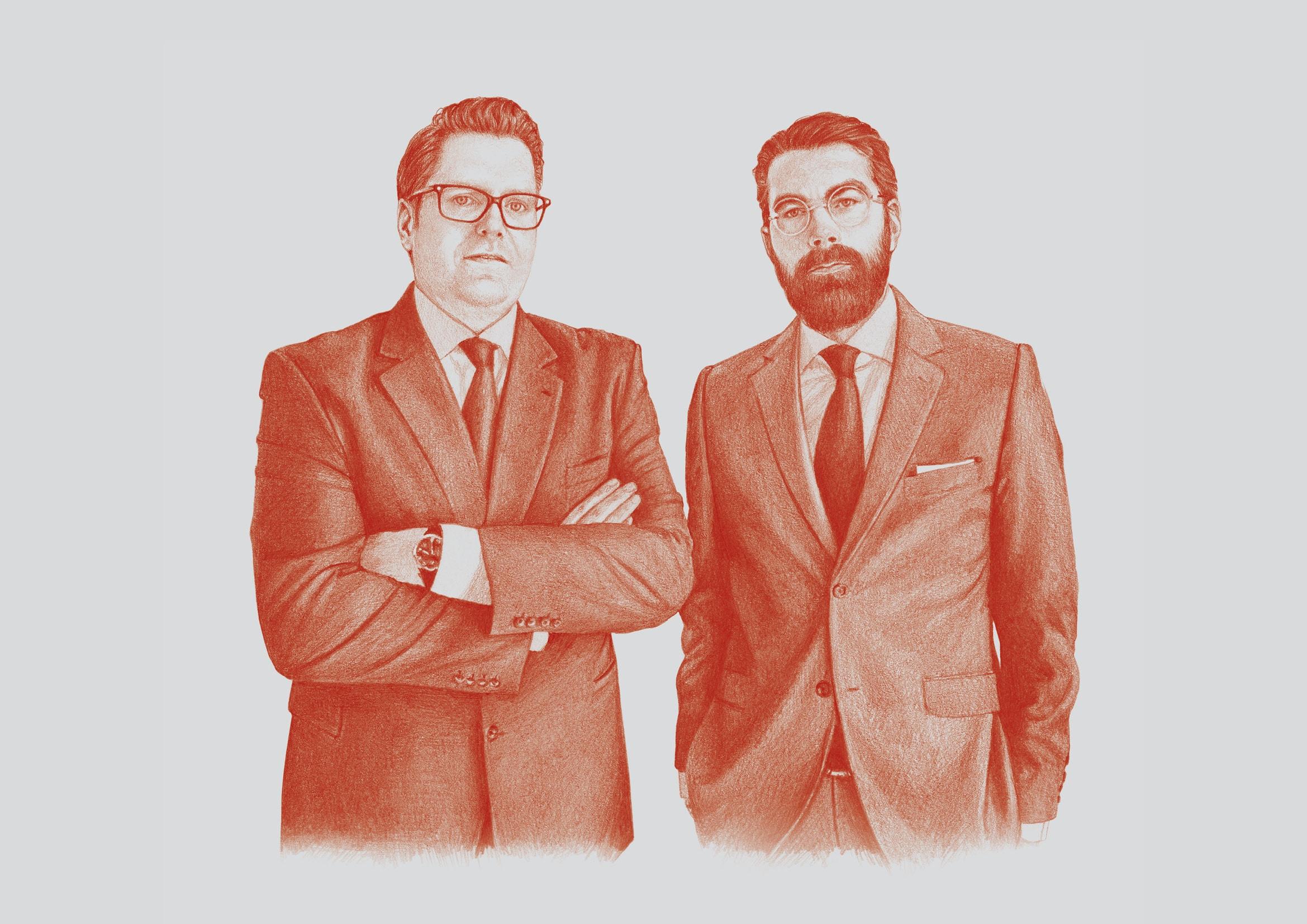 Entwicklung von eigenständigen Illustrationen für eine Anwaltskanzlei durch Grafik-Designer Ronald Wissler