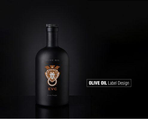 Etikettengestaltung für hochwertiges, rein biologisch produziertes Olivenöl aus Sizilien durch Grafik-Designer Ronald Wissler