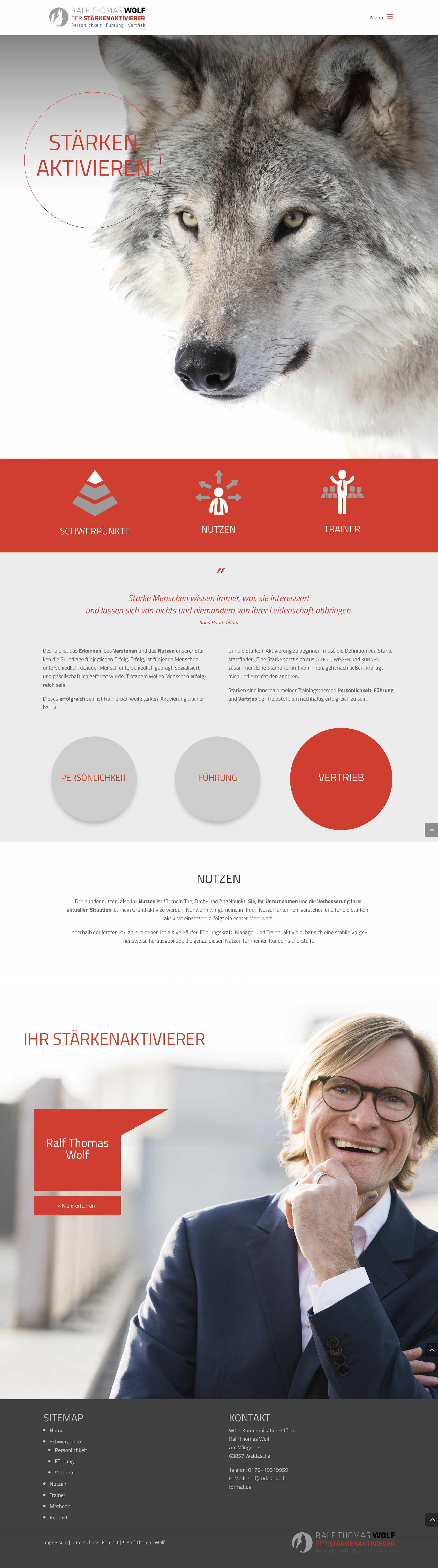 Homepage Entwicklung für Kommunikationstrainer und Coach durch Ronald Wissler | Visuelle Kommunikation