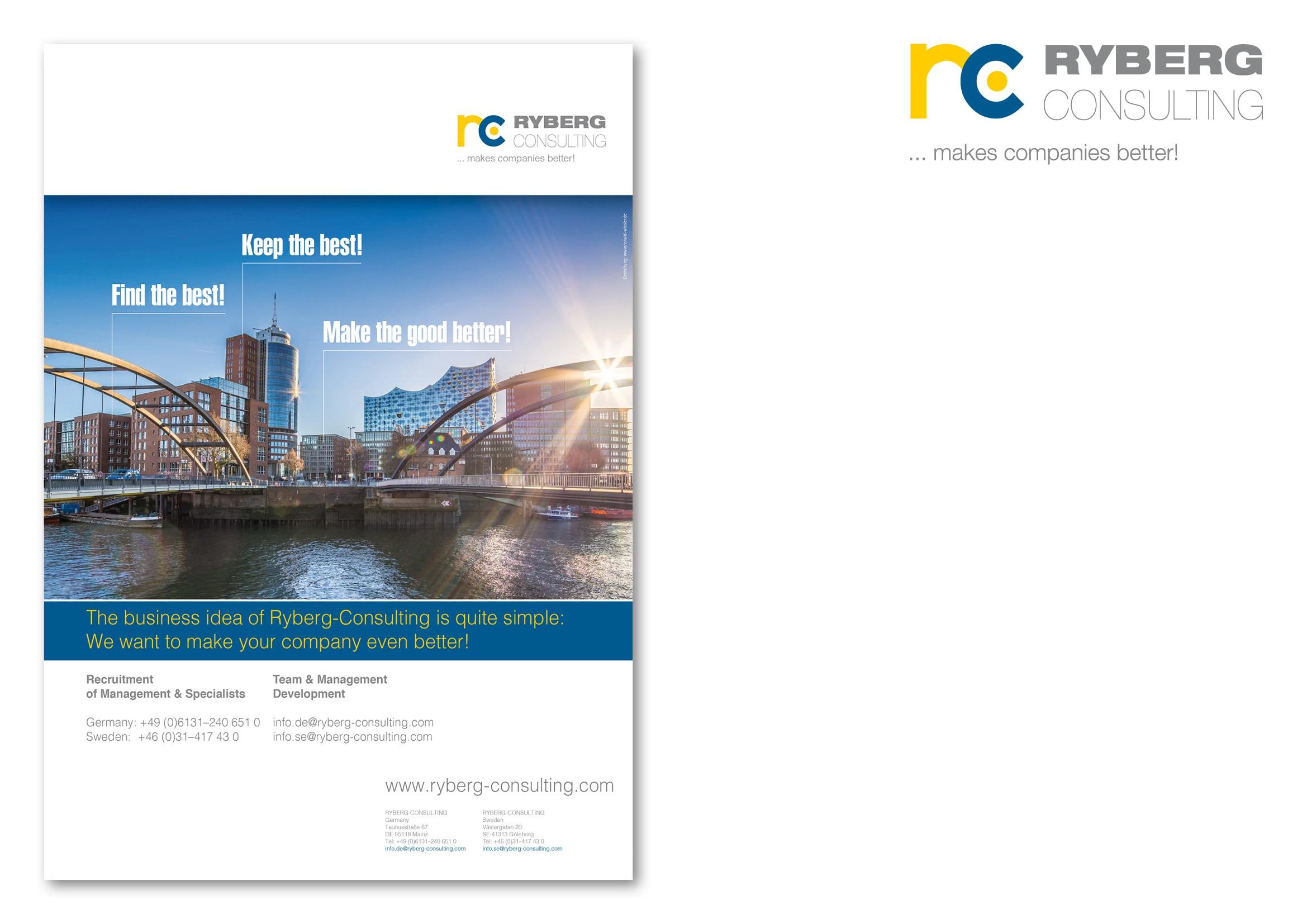 """Entwicklung Anzeigenmotiv Hamburg für die Anzeigenkampagne """"Find the Best!"""" für die Personalberatung Ryberg Consulting durch Grafik-Designer Ronald Wissler"""