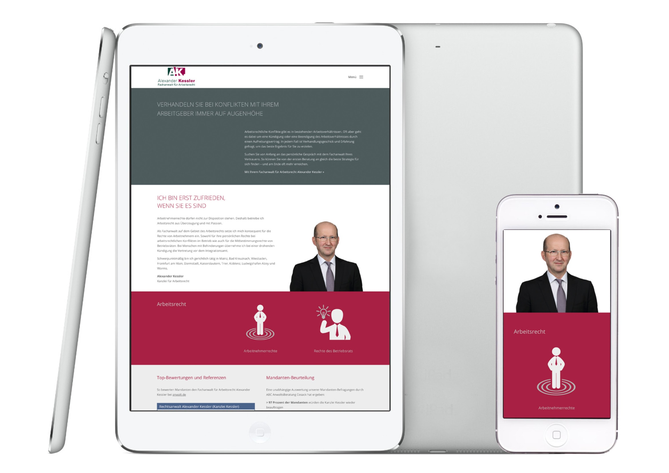 Homepage Entwicklung und Texterstellung für Fachanwalt für Arbeitsrecht