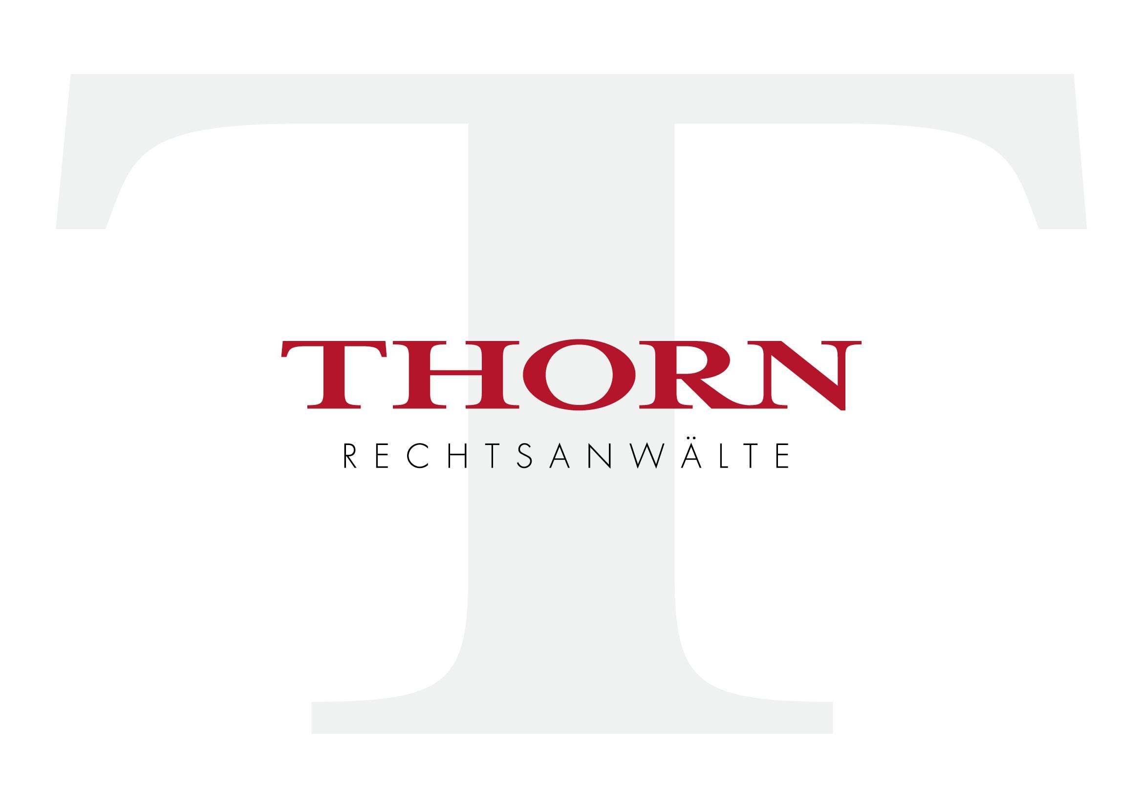 Logo Entwicklung für DR. THORN RECHTSANWÄLTE PartGmbB durch Grafik-Designer Ronald Wissle
