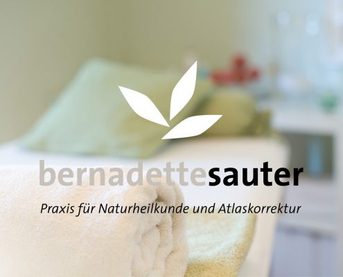 Corporate Design und Webdesign Entwicklung und Programmierung Homepage für Bernadette Sauter, Praxis für Naturheilkunde und Atlaskorrektur