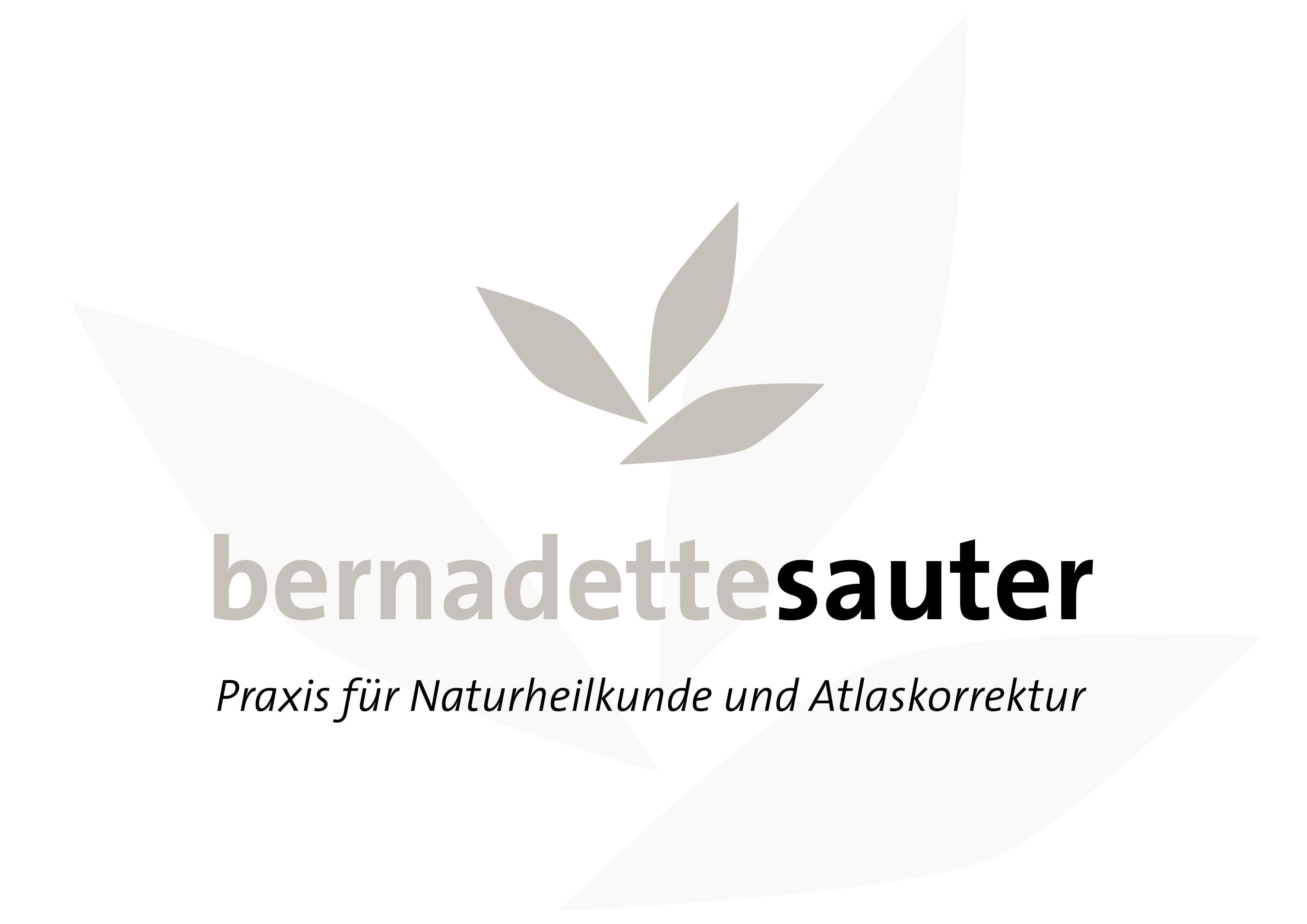 Logo Entwicklung und Programmierung Homepage für Bernadette Sauter, Praxis für Naturheilkunde und Atlaskorrekturdurch Grafik-Designer Ronald Wissler