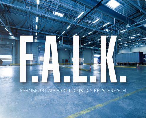 Corporate Design und Webdesign Entwicklung für F.A.L.K. Frankfurt Airport Logistics Kelsterbach, ein Zentrum für Airportlogistik Frankfurter Flughafens FRA