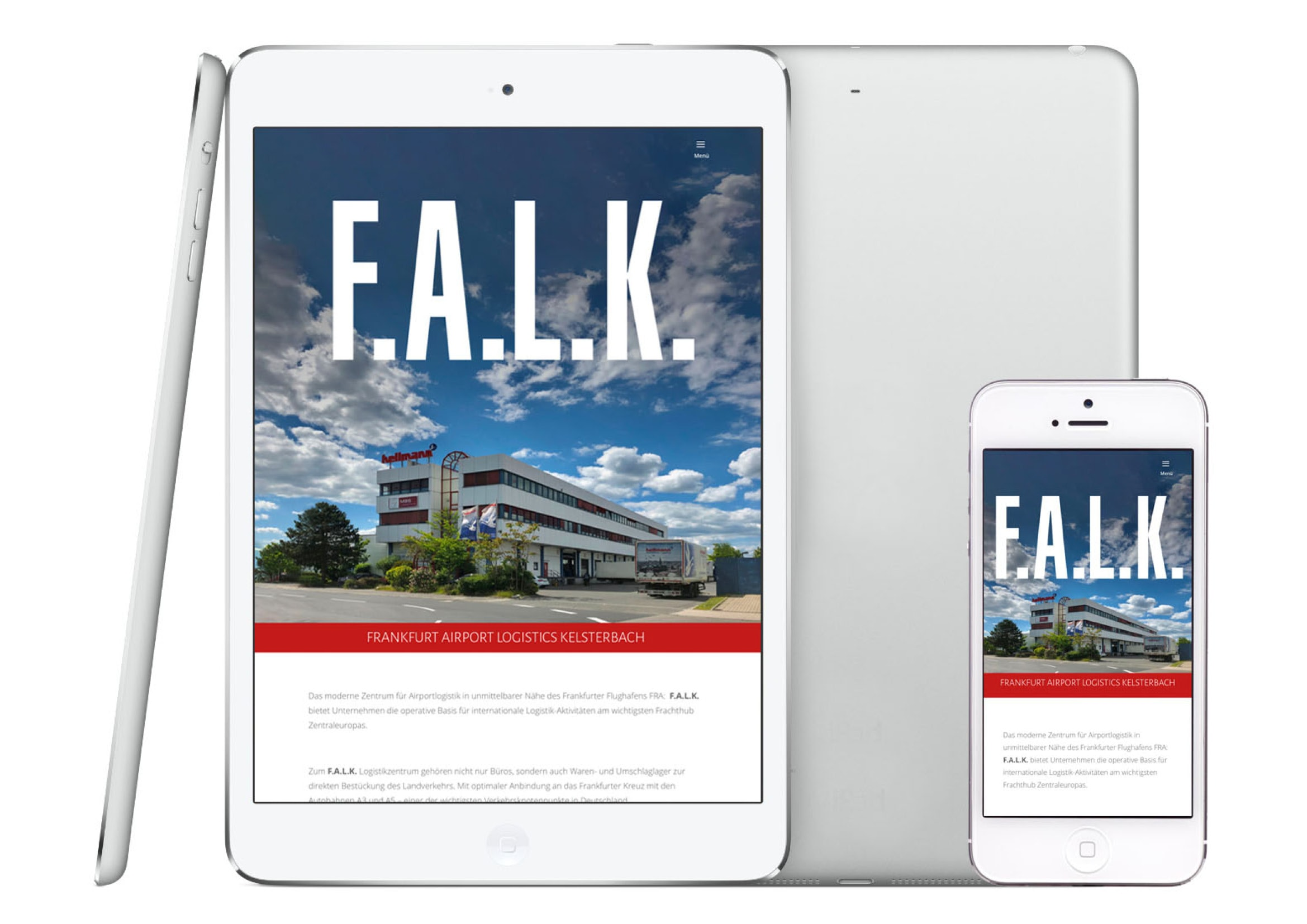 Corporate Design und Webdesign Entwicklung für F.A.L.K. Frankfurt Airport Logistics Kelsterbach