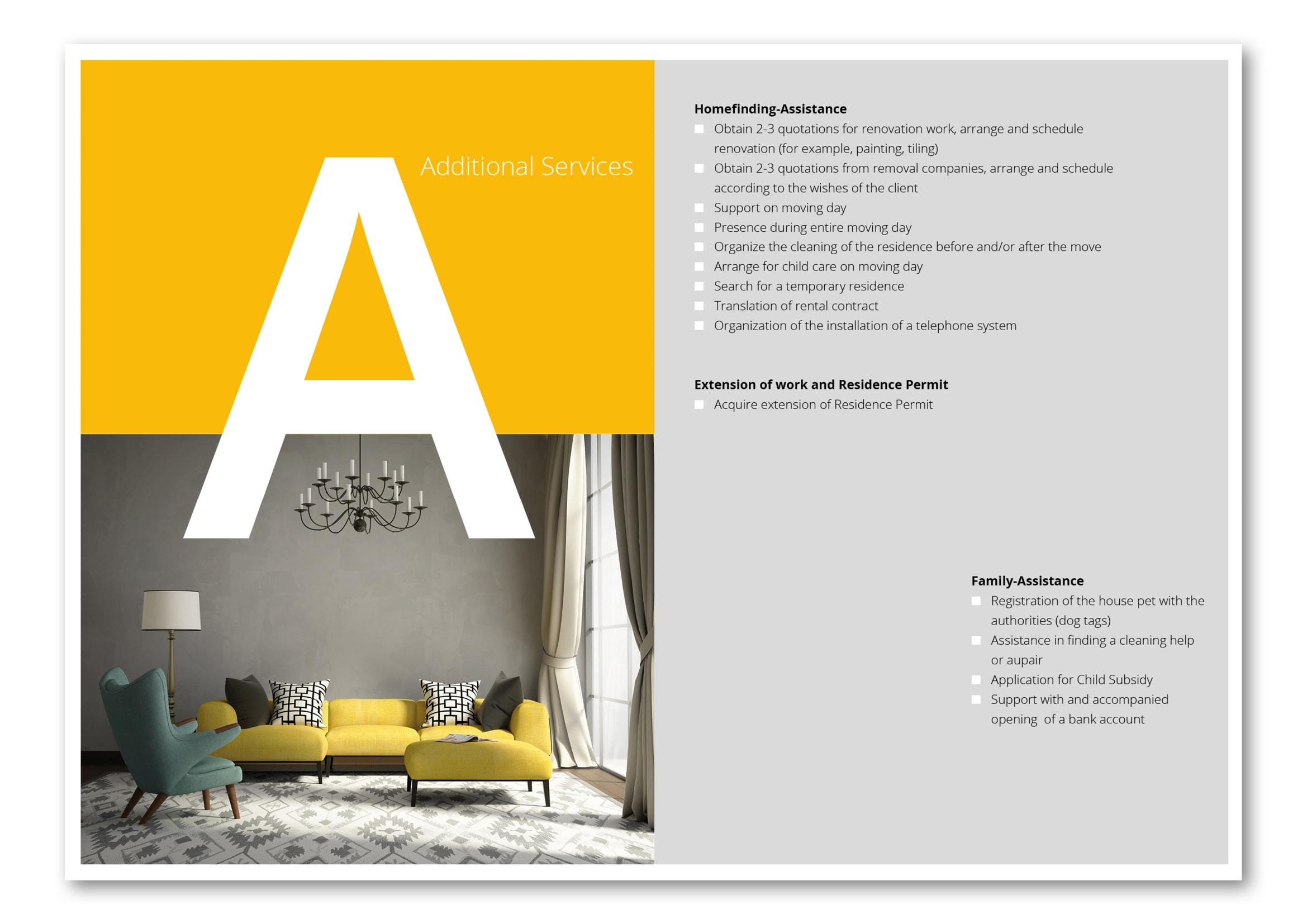 Broschüren Design für Relocation Service