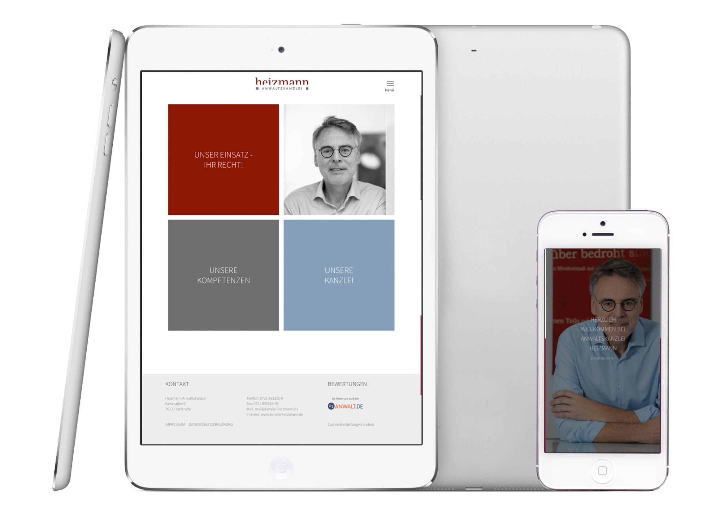 Webdesign Entwicklung für Anwaltskanzlei Heizmann