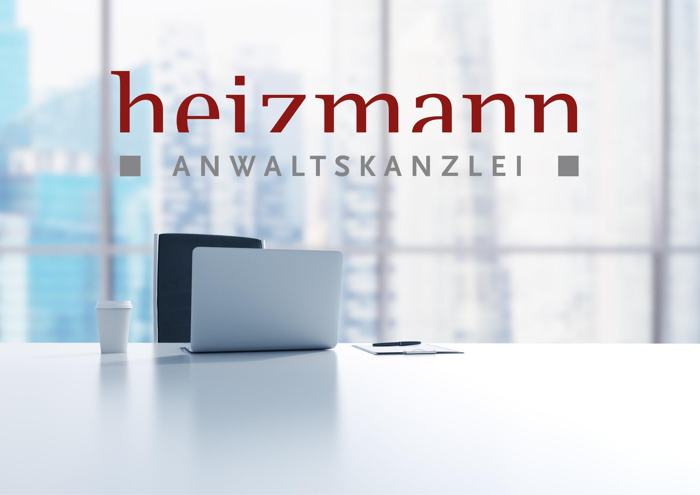 Logo Entwicklung für Anwaltskanzlei Heizmann