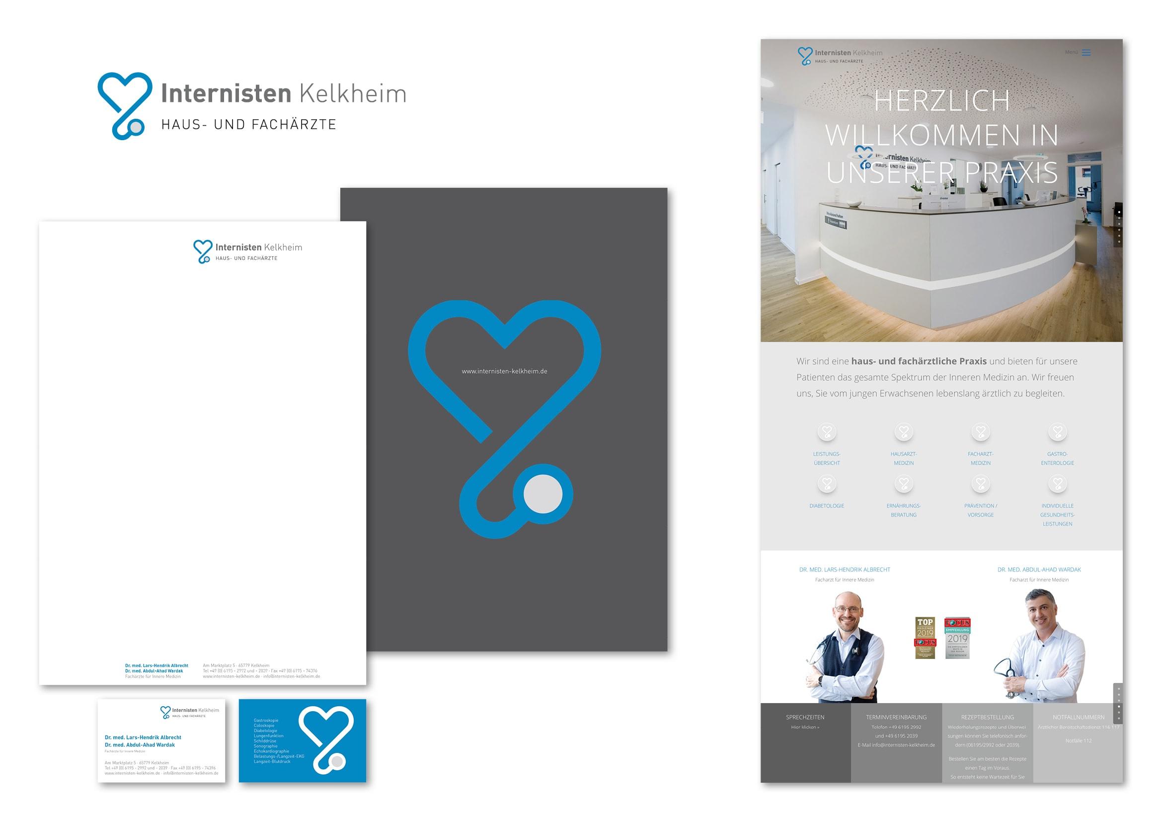 Corporate Design- und Homepage Entwicklung für Internisten Praxis durch Ronald Wissler | Visuelle Kommunikation