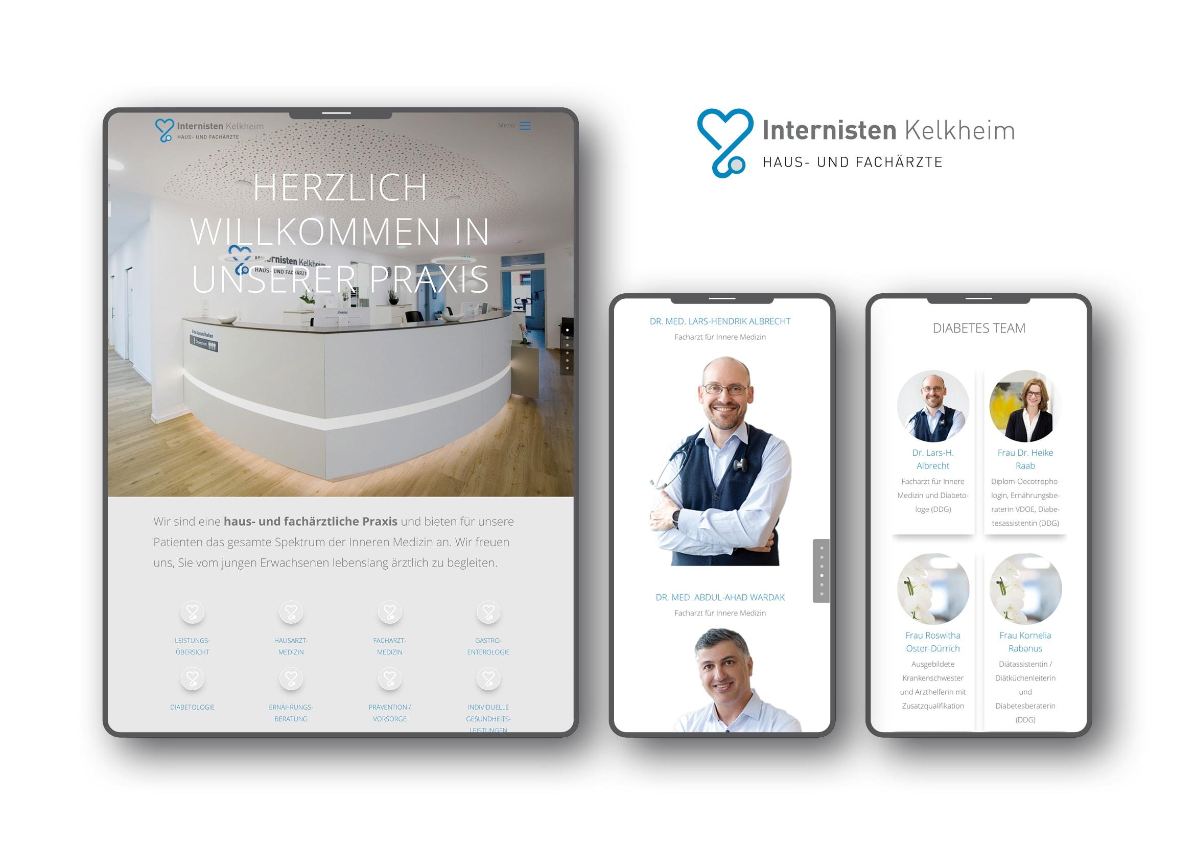 Corporate Design- und Homepage Entwicklung für Internisten Praxis durch Ronald Wissler   Visuelle Kommunikation