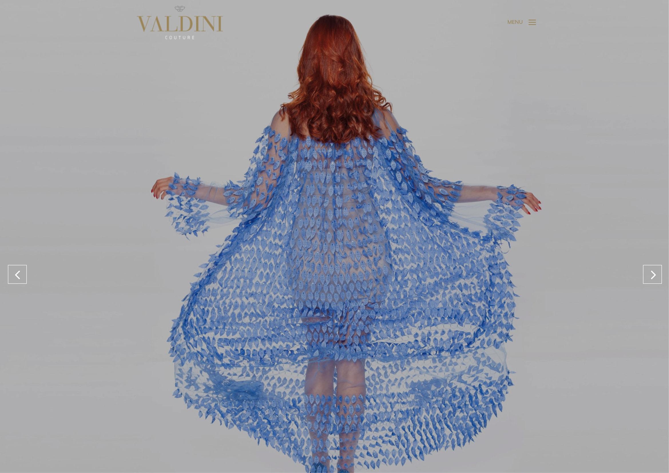 Corporate Design und Webdesign und Entwicklung für Valdini Couture