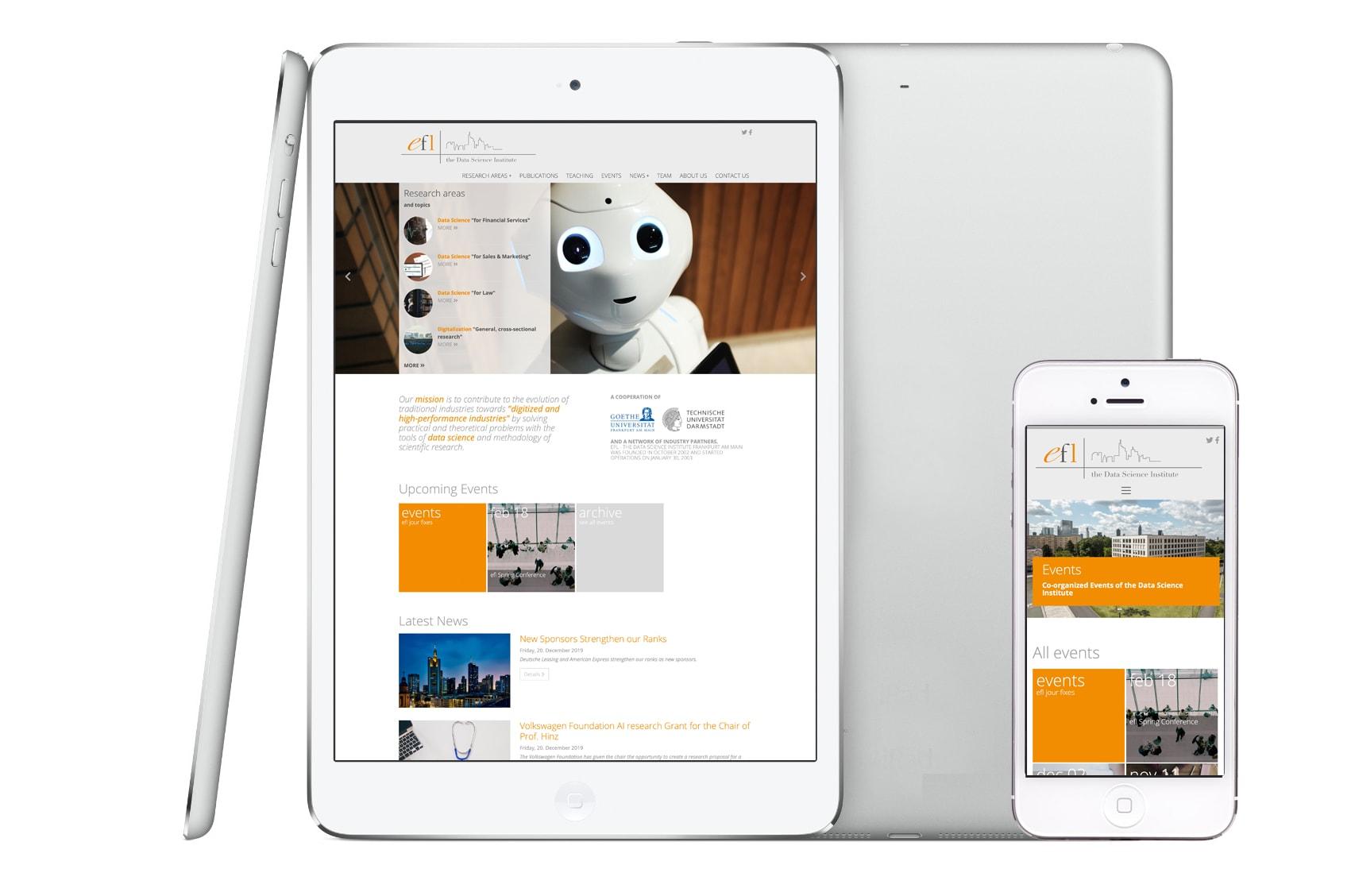 Entwicklung einer Typo3 Website für E-Finance Lab der Johann Wolfgang Goethe-Universität Frankfurt