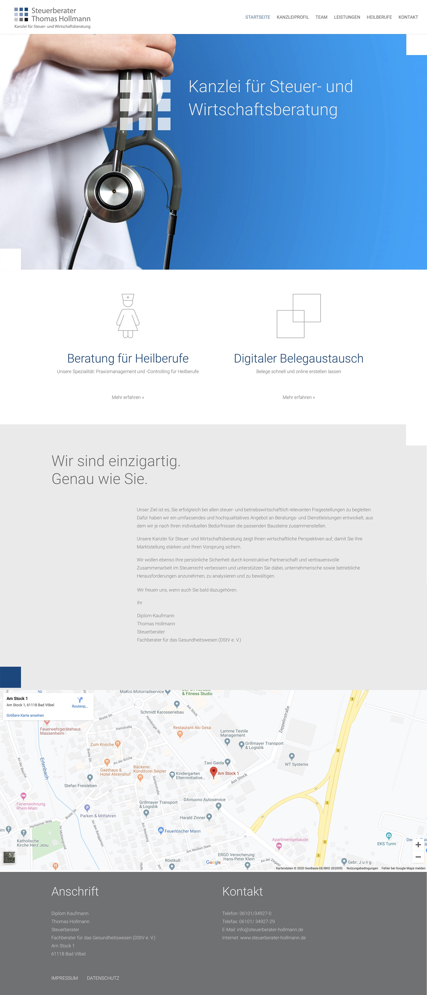 Homepage Entwicklung für Steuerberater durch Webdesigner Ronald Wissler
