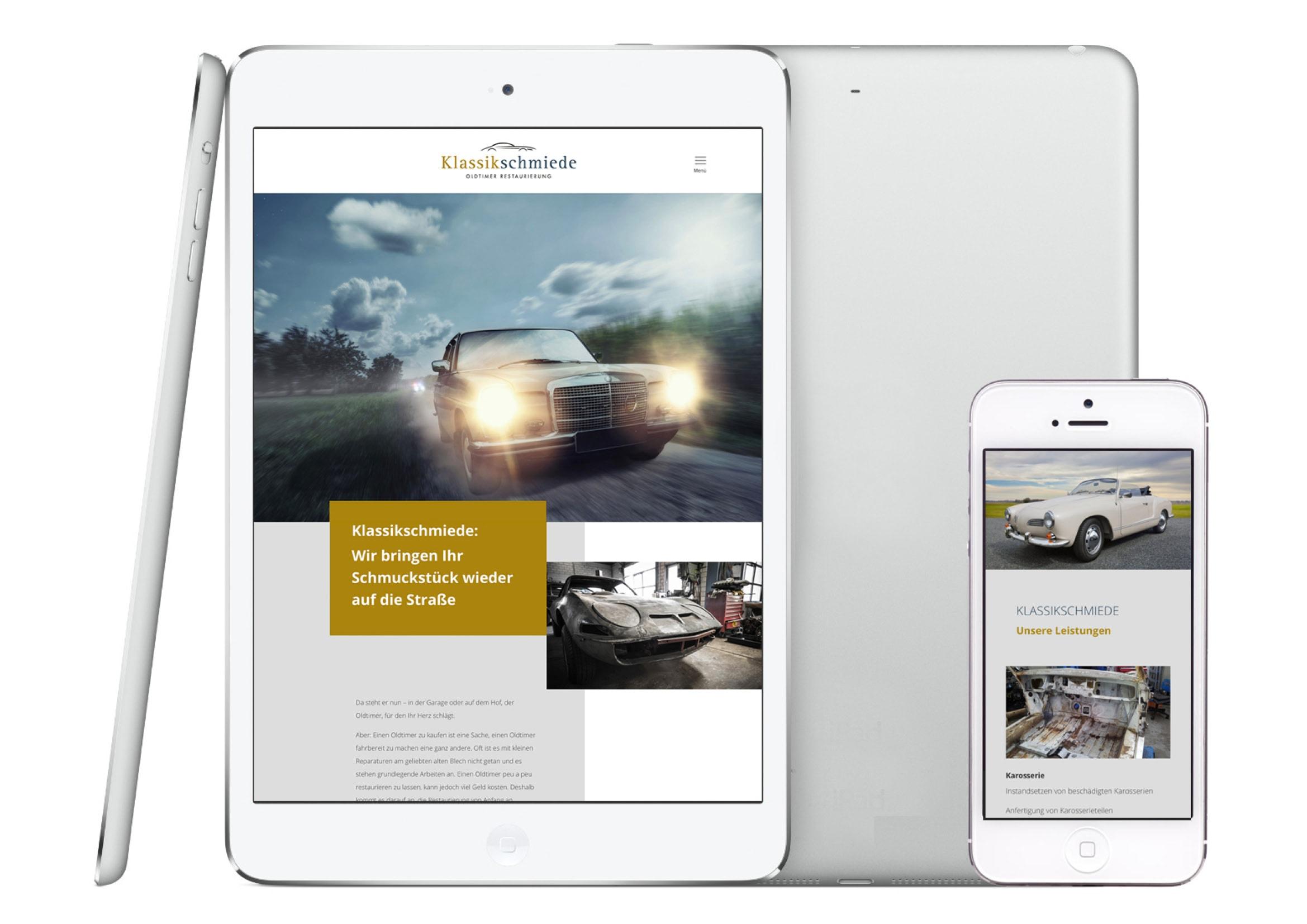 Homepage Entwicklung für Oldtimer Manufaktur durch Webdesigner Ronald Wissler Frankfurt