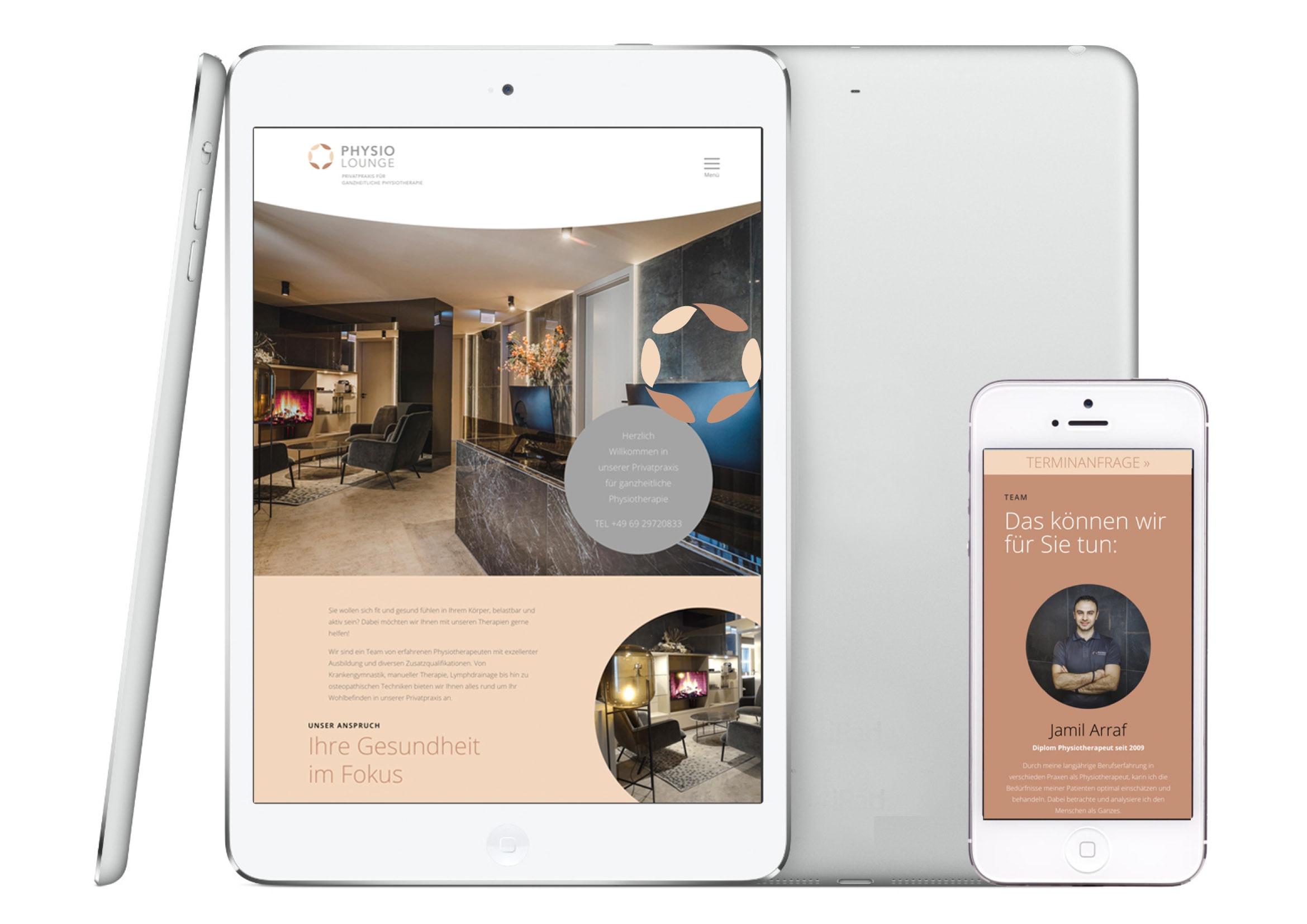 Webdesign und Programmierung der Homepage für Physiotherapeuten Frankfurt durch Webdesigner Ronald Wissler Frankfurt