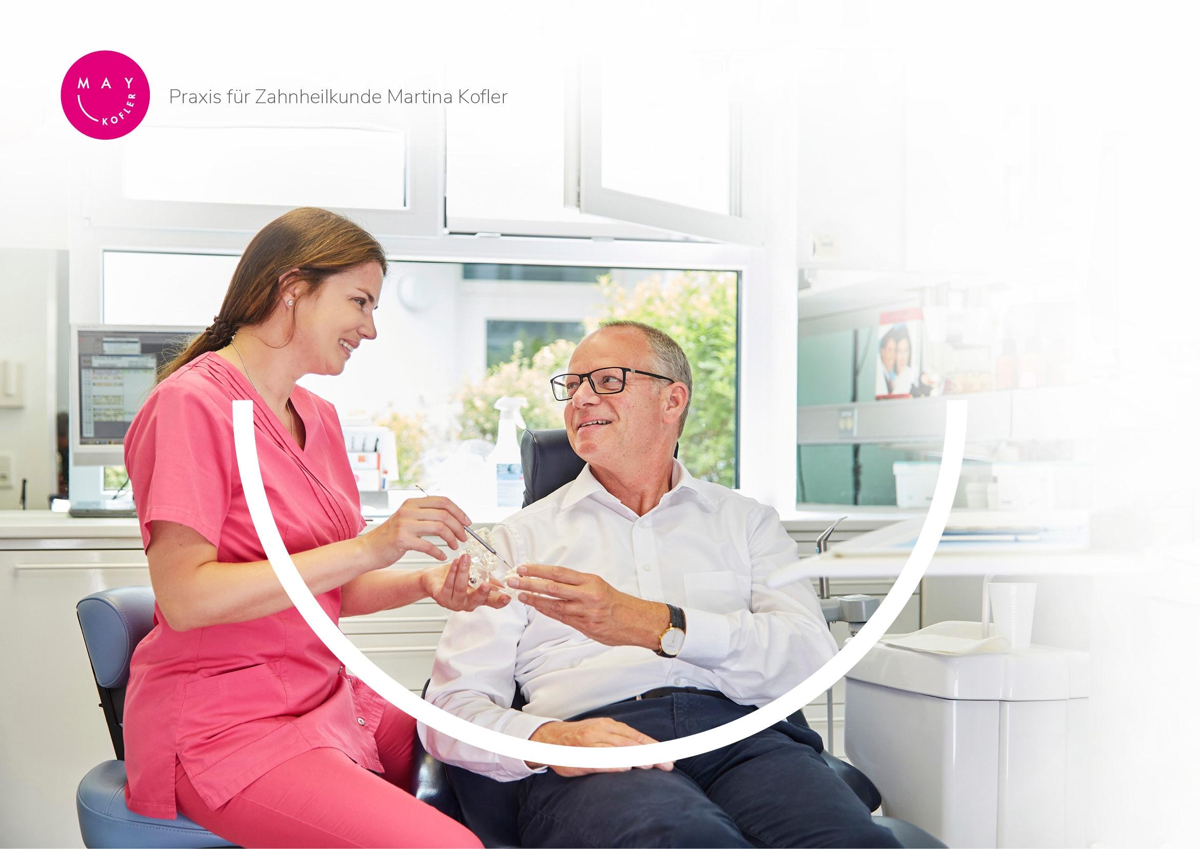 Homepage Entwicklung für Zahnarztpraxis Martina Kofler durch Ronald Wissler Visuelle Kommunikation