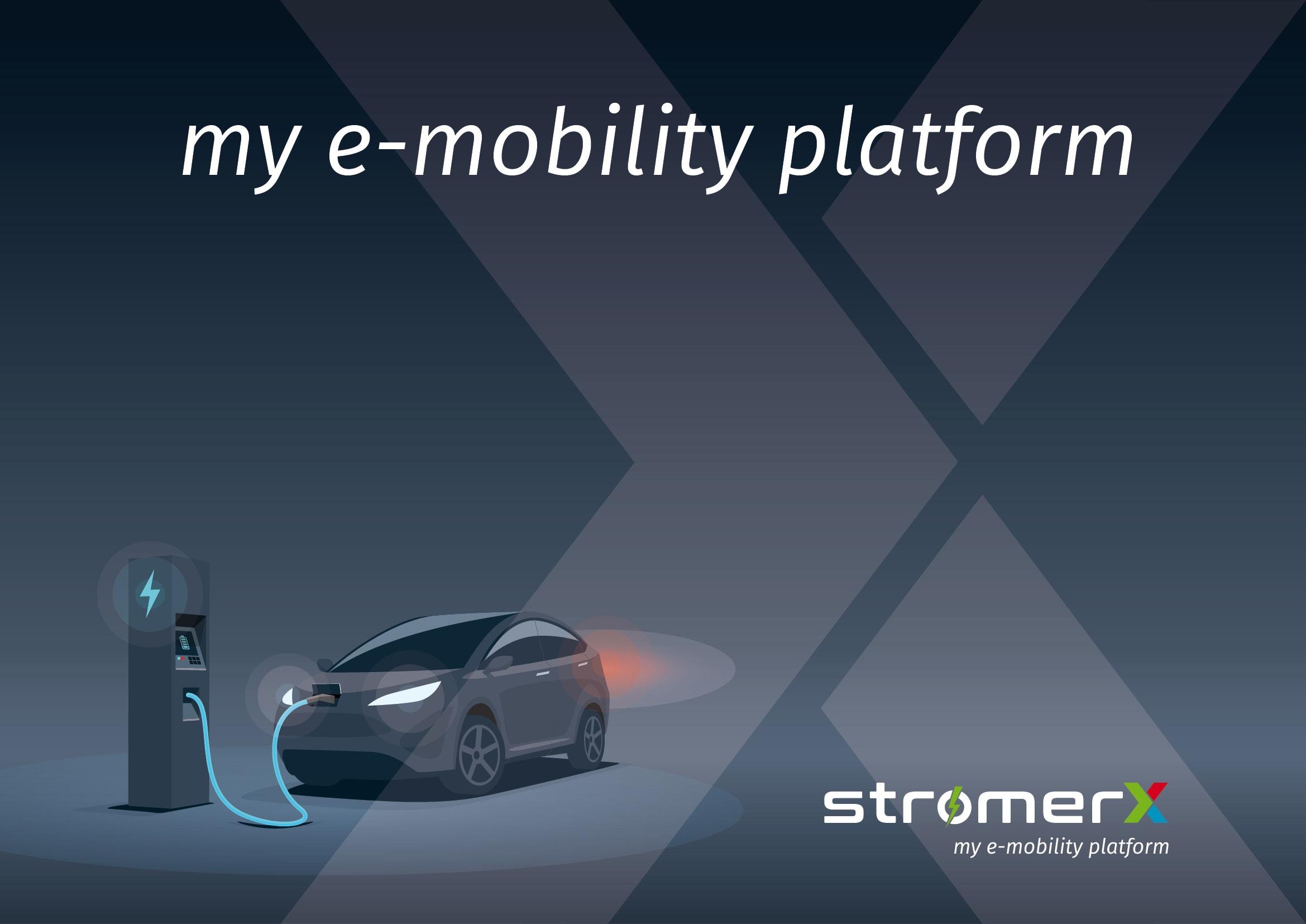 Corporate Design und Homepage Entwicklung StromerX: my e-mobility platform