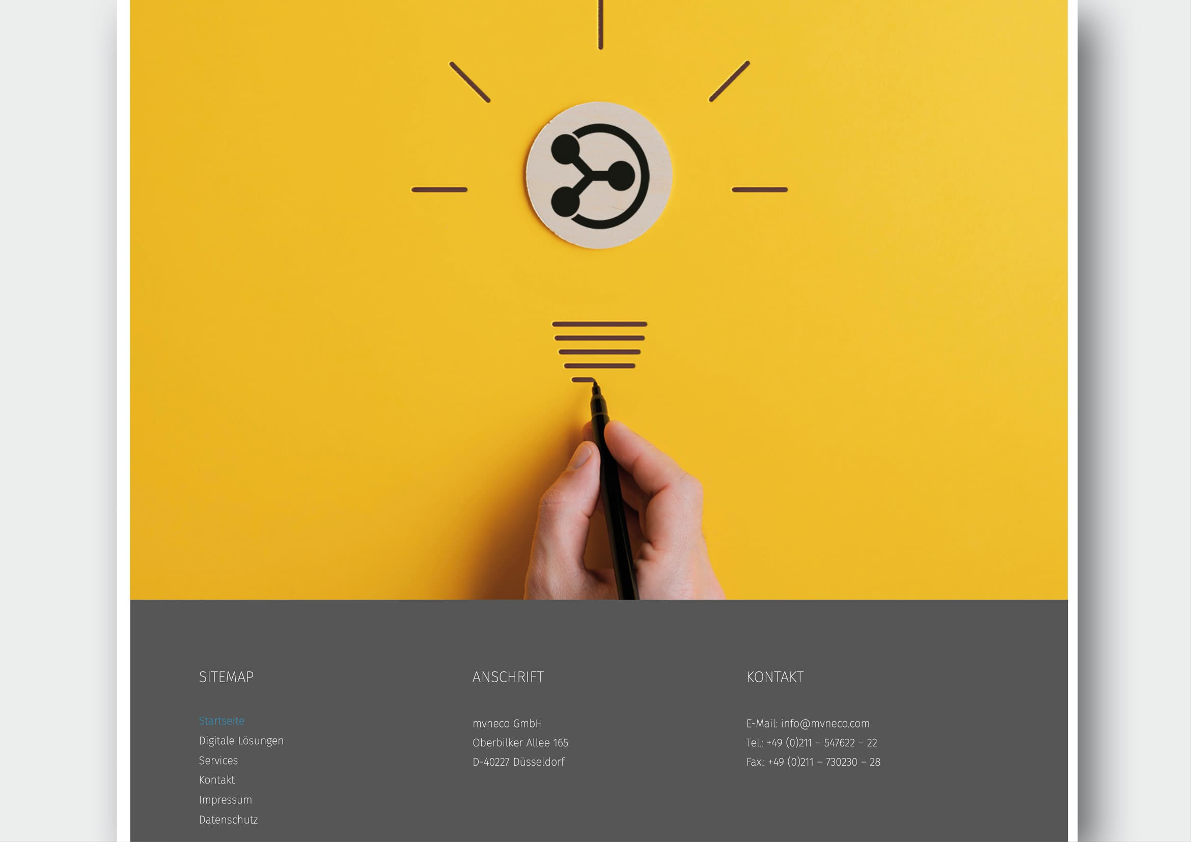 Website Relaunch für Digitalisierungsunternehmen mvneco GmbH durch Ronald Wissler Visuelle Kommunikation