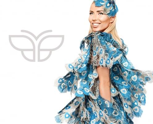 Gestaltung Mode-Lookbook für Modedesignerin Svetoslava Kirilova der Modemarke Valdini Couture Titel