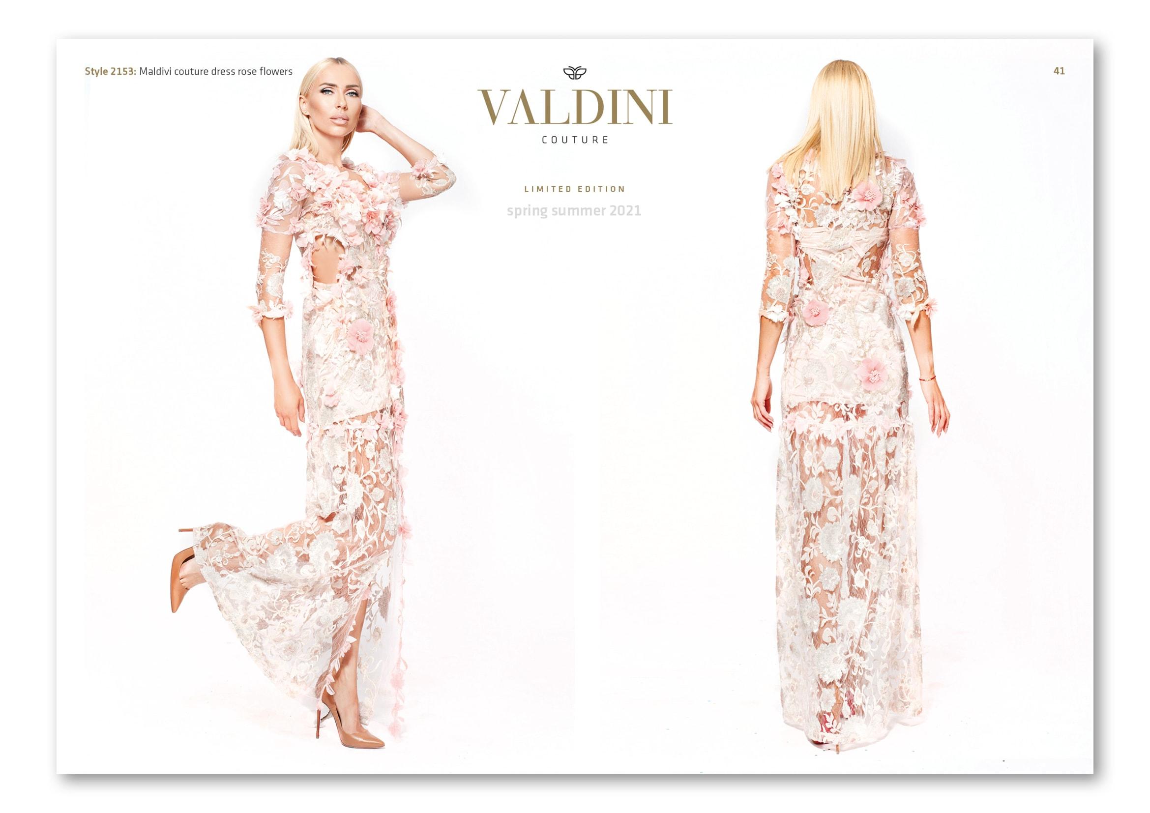 Gestaltung Mode-Lookbook für Modedesignerin Svetoslava Kirilova der Modemarke Valdini Couture