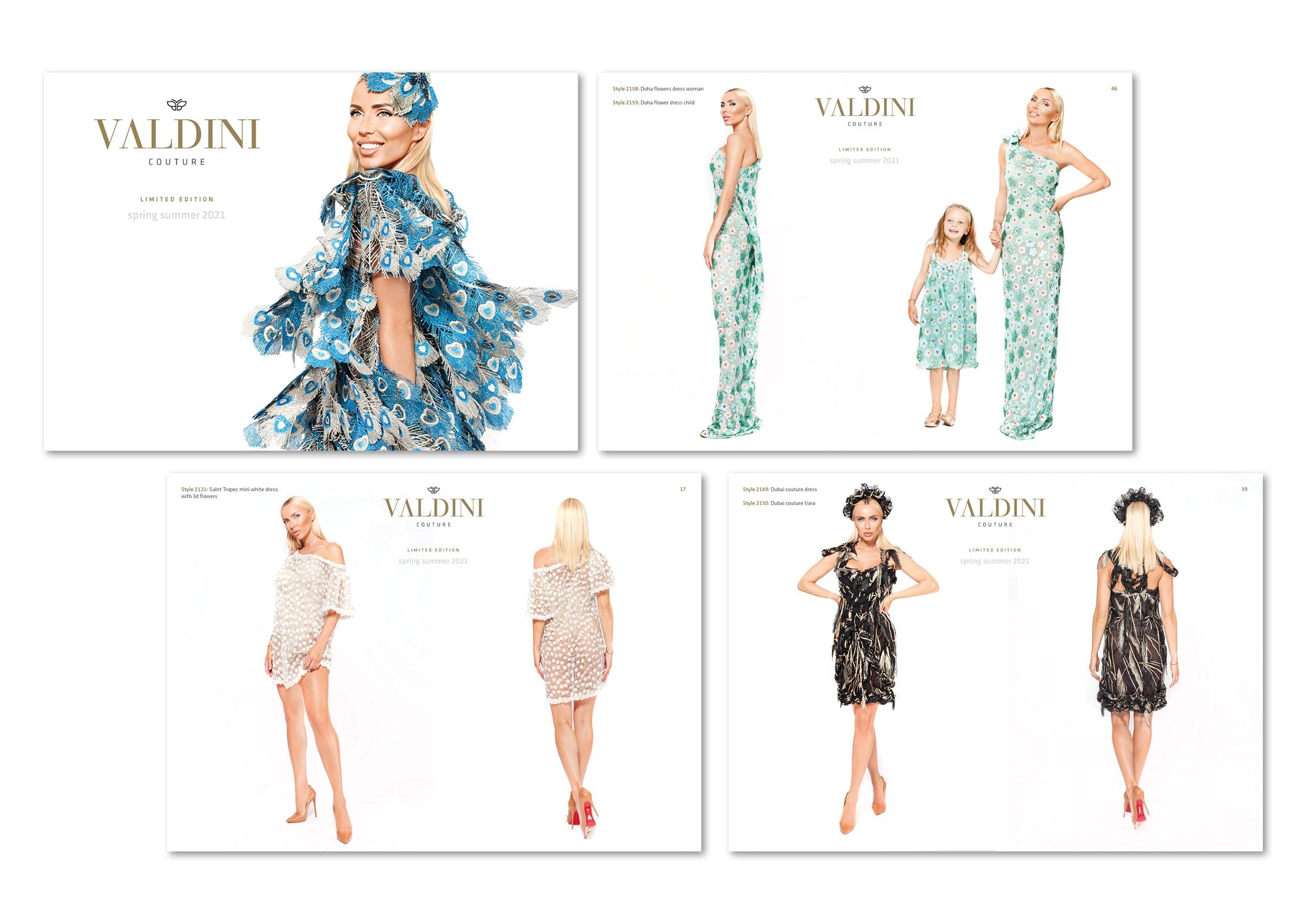 Gestaltung Mode-Lookbook für Modedesignerin Svetoslava Kirilova der Modemarke Valdini Couture Übersicht