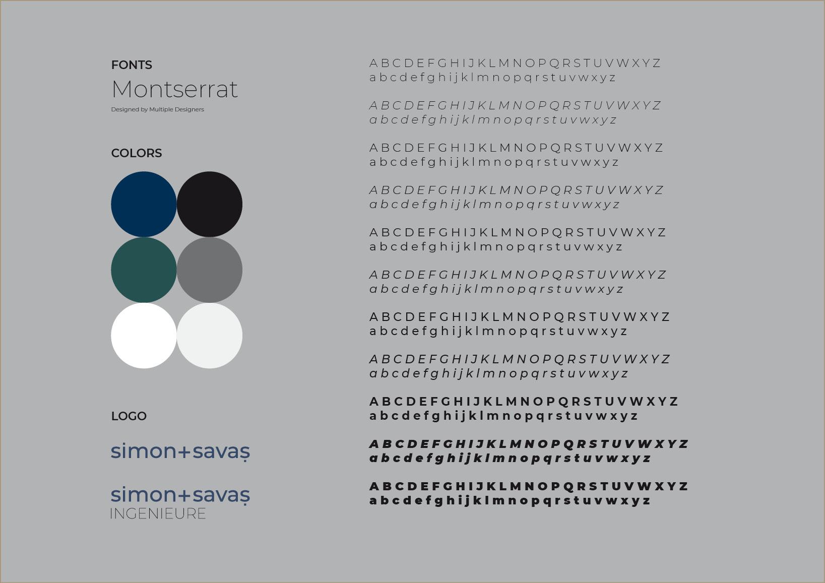 Corporate Design und Logo-Design für Ingenieurgesellschaft und Unternehmensberatung Dr. Simon + Savaş Ingenieurgesellschaft mbH