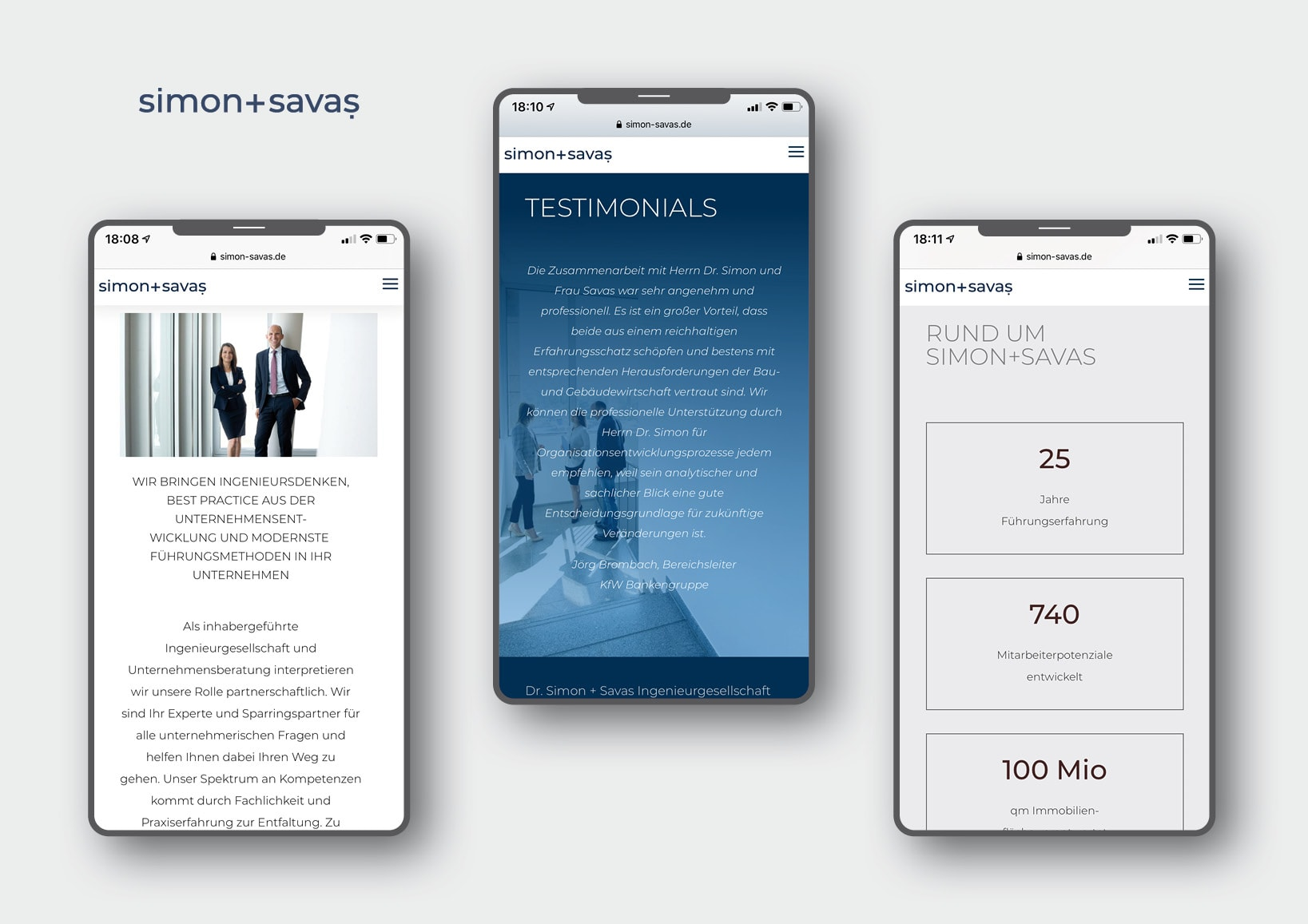 Corporate Design und Homepage Entwicklung für Ingenieurgesellschaft und Unternehmensberatung Dr. Simon + Savaş Ingenieurgesellschaft mbH