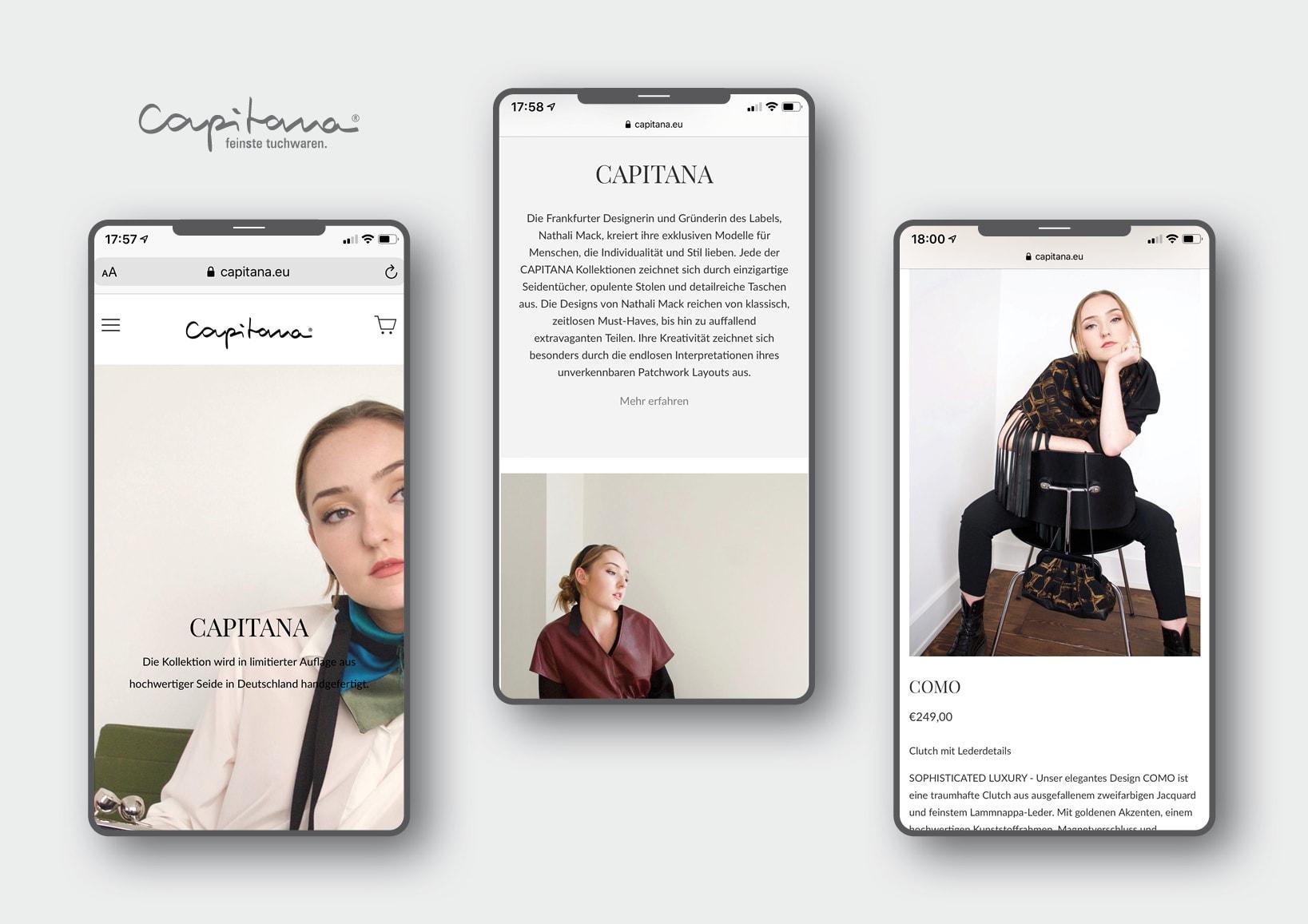 Webdesign und Erstellung innovativer Onlineshop für luxuriöse Mode-Accessoires durch Webdesigner Ronald Wissler aus Frankfurt am Main