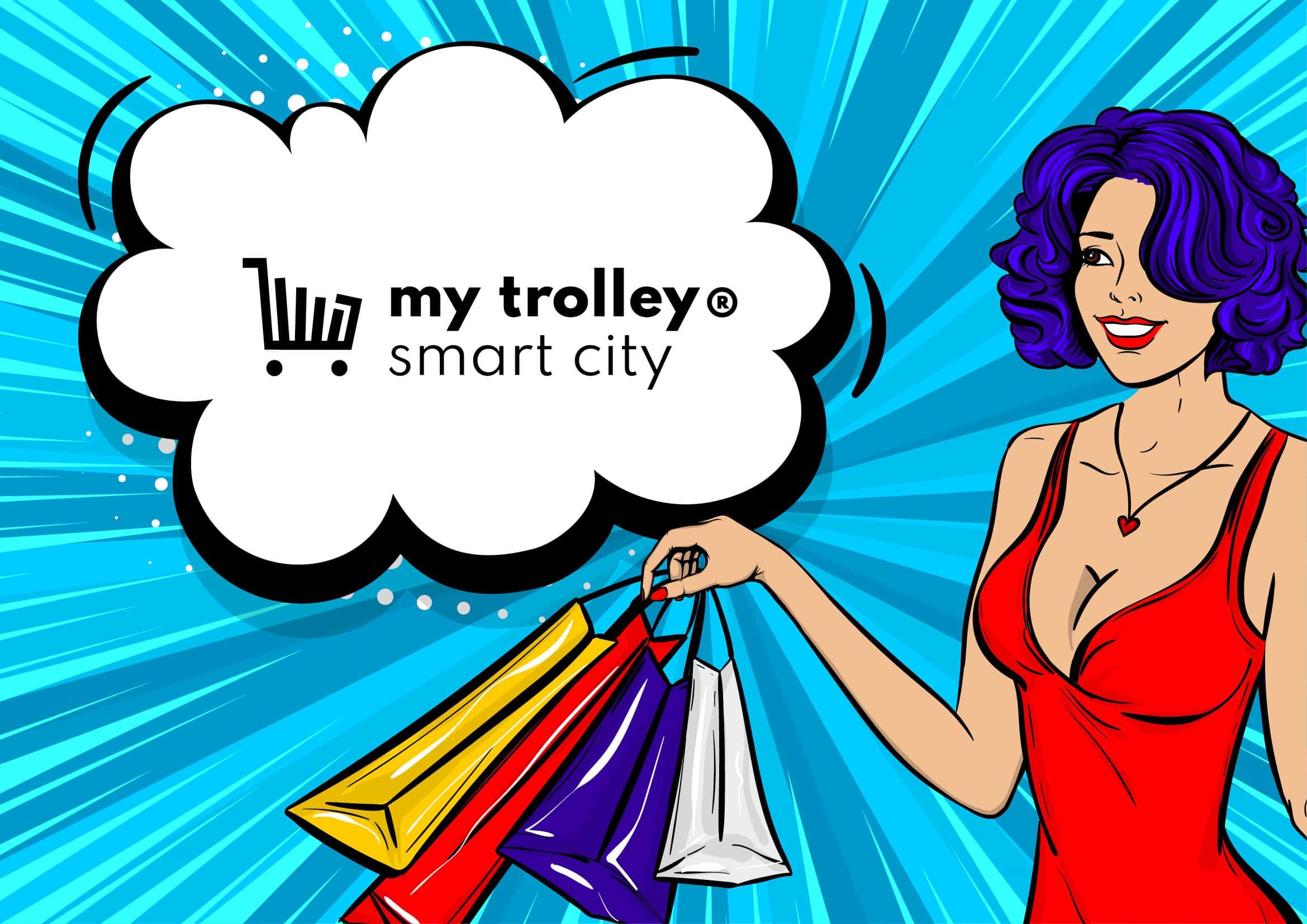 Entwicklung Corporate Design, Webdesign sowie Werbematerialien für my trolley® SmartCityCard